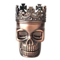 Король Череп Металл Табак Специи Мясорубки 3 Слоя Дробилка Рука Мюллер Курить Аксессуары