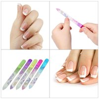 5 Unids Archivos de Uñas de Cristal Diseño de Uñas de Uñas Lijado de Fajas Kit de Manicura de Cristal Conjunto de Herramientas de Archivo de Colores Colores