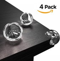 4pcs lot Soft Clear Rubber Table Desk Edge Corner Protector Guards Baby Child Kids Safey Table Corner Protector