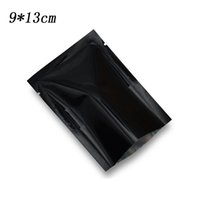 9 * 13 cm (3.54 '' x 5. 1 ') selo de calor aberto Top Mylar saco de varejo preto folha de alumínio alimentos secos sacos de armazenamento de vácuo lanche 500 pçs / lote
