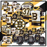 Boston Bruins Hockey Jerseys 33 Zdeno Chara 37 Patrice Bergeron 63 Brad Marchand 88 David Pastrnak 4 Bobby Orr Retro