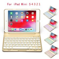 iPad Mini 5 4 7.9inch Alüminyum Arka Işık Kablosuz keyboad Geri İçin iPad mini için 1 2 3 4 7.9 Bluetooth Klavye Akıllı Alaşım Metal Kasa Kapağı İçin