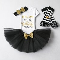 Ins Baby girl It' s my 1st Birthday Outfits set 4 Colors...