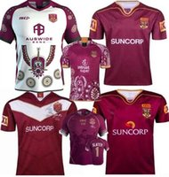 National Rugby League Queensland 2019/20 QLD Maroons Malou Rugby jersey 2019/2020 QLD MAROONS STATO DI ORIGINE Rugby jersey