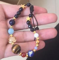 Schmuck Planeten Kugel Perlen Armbänder natürlicher Achatstein Armbänder spezielle Großhandel für wome0n heiße Art und Weise