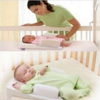 Baby Anti- Roll Pillow Infant Sleep Prevent Flat Head Positio...