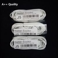 Kaliteli J5 Stereo Kulaklık 3.5mm Kulak Yss TPE Düz Erişte Kulaklıklar Mic Ile Uzaktan Kumanda EG900 Samsung Galaxy S4 S5 S6 S7 S8 S9 Not 3 4 N7100