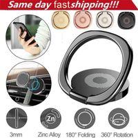 360 Degree Metal Finger Ringhållare Smartphone Mobiltelefon Fingerhållare för iPhone XS Max Samsung Tablet med Retail Bag
