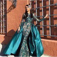 Robes de soirée sirène musulman vert sirène turc arabe Aibye robe de bal africaine formelle caftans marocains robes de couture