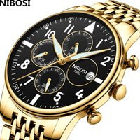 Relogio Masculino Nibosi Mens Watches Water Against Quartz Business Men Watch Top Brand Favour Clock Military Sport Watch