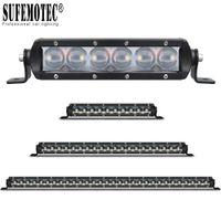 Super Slim 4D Objektiv 11 '' 21 '' 31 '' 41-Zoll-LED-Licht-Bar für Auto Off-Road 4WD LKW ATV UTE Curved / Hetero Fahr Spotlights