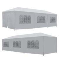 Spedizione da USA 10 'x 30' 8 lati 2 porte da sposa festa da sposa patio patio tenda a baldacchino resistente gazebo padiglione evento