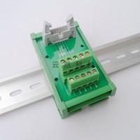 IDC-10P 10 çekirdekli Korna Koltuk Adaptörü Terminal Bloğu PCB Modülü Çerçeveli DIN Rayı
