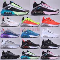 Yeni Varış 2090 Mavi Kireç Volt Pembe Köpük Koşu Ayakkabıları Erkekler Kadınlar Için Nefes Rahat Sneakers Spor Eğitmenler Erkek Tasarımcı Ayakkabı 36-45