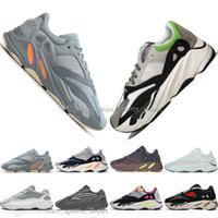 Con la caja de Kanye West 700 Inercia malva Sal 700 V2 estático Geode para hombre 3M zapatos para hombres mujeres deportes zapatillas de deporte tamaño 36-46 Running