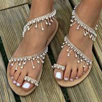 2dc3c1fbd06e New Arrival. SIKETU luxury style rhinestone pearl slip-on women sandals  beading fringed lady flats shoes clip-toe ...