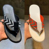 20ss Web Strap Thong Sandal Men Leather Slide Mens Designer ...