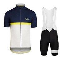 새로운 남자 Rapha 팀 사이클링 저지 정장 여름 통기성 짧은 소매 MTB 자전거 옷 도로 자전거 유니폼 퀵 드라이 사이클 스포츠웨어 32073