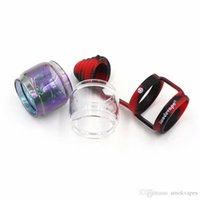 Poeira Drip Tip Silicone Caps substituição de vidro Kit tubo Big Capacidade do arco-íris Para Berserker MTL RTA FreeMaX Fireluke malha Pro Tanque DHL