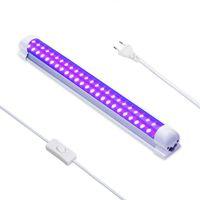 Tubo T8 110V 220V 10W Luz UV de luz negra ultravioleta germicida de la lámpara de cuarzo de la lámpara UVC ozono Esterilizador matar los ácaros del bulbo de la luz