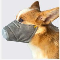 الحيوانات الأليفة أقنعة الكلاب الذهاب خارج التنفس الغبار يغطي الفم واقية الجديدة قناع الضباب مكافحة الغلاف بالضباب مع صمام يأجوج الصحة قناع 60PCS IIA96