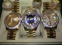 Высокое качество роскошные 43 мм золото большой бриллиант механические мужские часы (Алмаз. синий. золото) циферблат автоматический из нержавеющей стали мужские часы свободный корабль