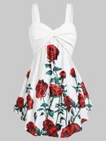 Wipalo Plus Size 5XL Camiseta sin mangas con estampado floral Casual Mujer Tops Tees Cuello de corazón Chalecos sin mangas sexy Chaquetas de verano de gran tamaño