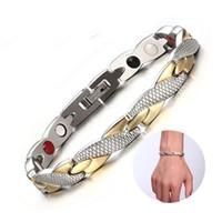 Trend Men Fashion e braccialetti delle donne Magnet Gold Dragon Grano Oro magnetico di sanità del braccialetto di 4 colori