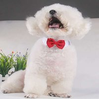 Симпатичная собака хлопок белый галстук и красный лук собака одежда костюм щенок галстук галстук-бабочку для собаки любимчика свадьба аксессуары горячая