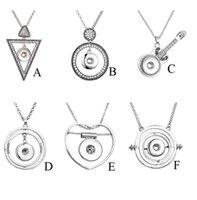 Arbeiten Sie Kristallverschluss-Knopf-Anhänger Kreis-Herz-Dreieck-Charme-C fit 18mm Ingwerkeks Buttons Geschenk-Partei-Halskette Schmuck