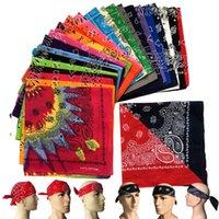 Algodón Magic Anti-UV Máscaras Paisley Bandana Headwear Hip Hop Multifuncional Deportes al aire libre Pesca Equitación Camuflaje Ciclismo Bufandas