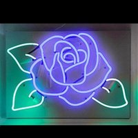 New Star Neon Sign Factory 17X14 Pollici Real Glass Neon Sign Light per Beer Bar Pub Garage Room Blue Rose TN763.