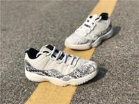 2019 Sınırlı 11 düşük SE yılan derisi beyaz gri erkekler basketbol ayakkabı gerçek karbon fiber cd6846-002 ışık kemik otantik spor ayakkabı kutusu ile