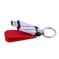 Бесплатный пользовательский логотип металлический кожаный брелок USB флэш-накопитель памяти меховой мех Pendrive 4GB 8GB 16GB 32GB 64GB Emboss Artwork подарок U диск 128GB