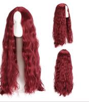 26-Zoll-synthetische Spitze-Front-Perücke Schwarzwein rotbraun Ombre-Perücken für Frauen Cosplay langes Haar-lockiges mittleres Teil-Perücke