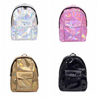 Glitter Hologram Laser Travel Backpacks Fashion Teenage Girl...