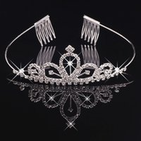 Girls Tiaras Wtih Rhinestones Crystals Hair Accessories Even...