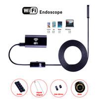 Câmera de endoscópio de F99 Mini WiFi Lente de 8mm 6LEDS HD720P Fio Disco HD720P Fio Fio Borescópio Waterproof Inspeção Câmeras para Smart Phones