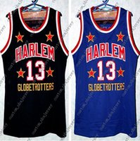 NEW Wilt Chamberlain Harlem Globetrotters Basketball Jersey Black Blue  Embroidery Stitched Custom any Number and name Jerseys XS-5XL a26cfe4e8