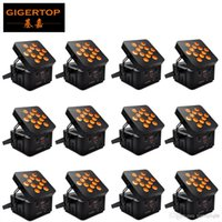 Gigertop 12 Birimler Yüksek Güç 12x15W RGBWA 5IN1 Renk Yüksek Parlaklık Sahne Led Par Işık Tyanshine Ledler Çoklu Açı Par Projektör 110v-220v