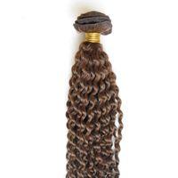 Kıvırcık saç demetleri Brezilyalı saç örgü demetleri 100% insan 1 demetleri sapıkça kıvırcık bakire saç örgüleri