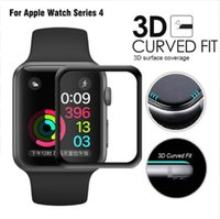 Cristal templado 3D de borde curvo HD para Apple Watch Series 3 2 1 38MM 42MM Protector de pantalla para iWatch 4 40MM 44MM