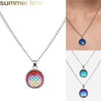 Романтические русалки рыбные масштабы ожерелье красивый цвет блестящие масштабные подвесные ожерелья для женщин девушка для отдыха