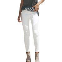 Avec les femmes Pantalons taille haute Crayon femme stretch hiver Basic Skinny Jeans Femme Taille Plus Denim Pantalons Femme Coton
