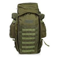 60L Bolsa de mochila ARMY para mochila táctica al aire libre para la caza Tiro Cámping Senderismo Senderismo Viajar