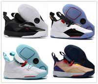 2018 Yeni Varış Jumpman XXXIII 33 Erkek Basketbol Ayakkabı için Ucuz Yüksek kalite 33 s Renkli Siyah Sarı Eğitmenler Sneakers Boyut 40-46