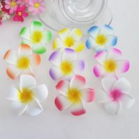 100pcs 5CM 6CM 8Colors 5colors hawaiian vero tocco Plumeria fiore artificiale dei capelli fai da te accessori pe matrimonio frangipani decorazione del partito