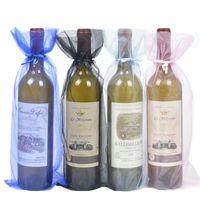 sacchetto del vino mucchio tasca organza sacchetto di garza maglia trasparente elegante e bellissimo regalo imballaggio trasporto libero