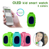 HOt Anti-Lost Q50 OLED Child GPS Tracker SOS Smartwatch LBS الموقع رصد آمن تحديد المواقع الهاتف أطفال ووتش متوافق IOS Android