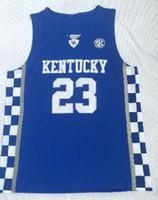 ucuz Kentucky Koleji fan dükkanı çevrimiçi toptan erkek basketbol Aşınma 3 Adebayo 11WALL 15 COUSINS 0 FOX 12 Towns 23 DAVIS Basketbol Formalar